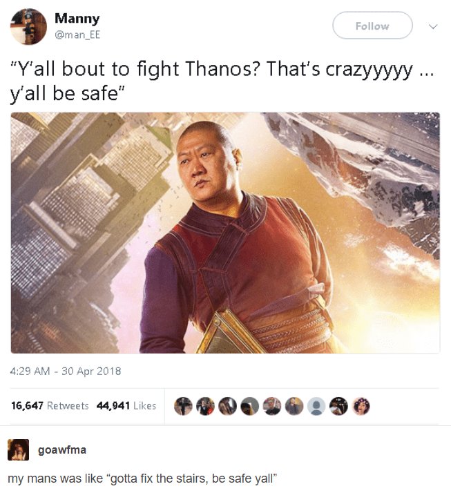 meme - y'all bout to fight thanos? that's crazyyyy