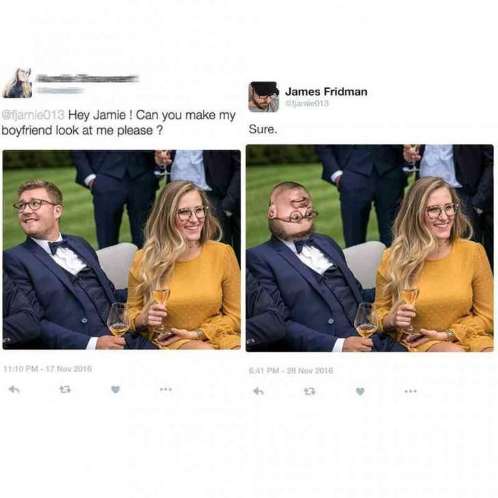 Yellow - James Fridman etamie013 @fjamie013 Hey Jamie ! Can you make my boyfriend look at me please ? Sure. 11:10 PM-17 Nov 2016 6:41 PM-28 Nov 2018
