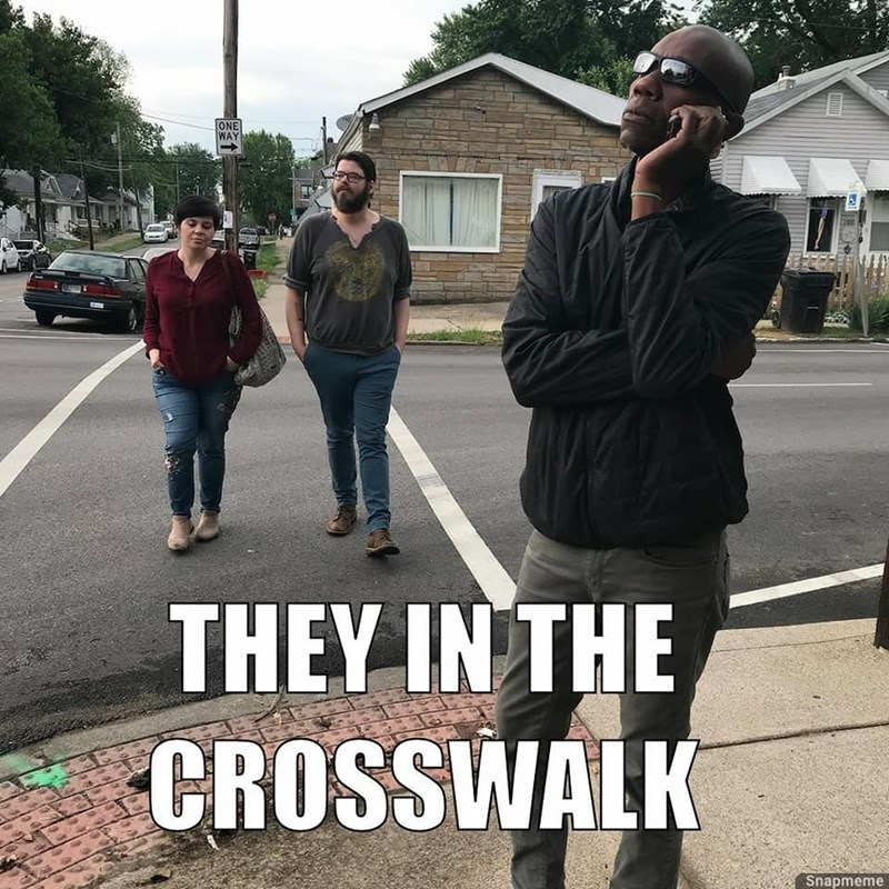 People - ONE WAY THEY IN THE CROSSWALK Snapmeme