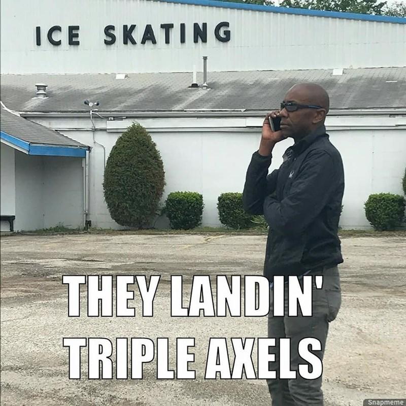 Sky - ICE SKATING THEY LANDIN' TRIPLE AKELS Snapmeme