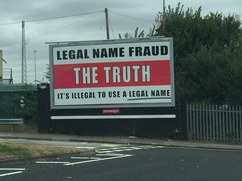Advertising - LEGAL NAME FRAUD THE TRUTH IT'S ILLEGAL TO USE A LEGAL NAME primesight