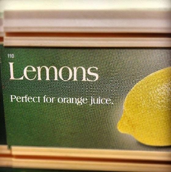 Green - 110 Lemons Perfect for orange juice