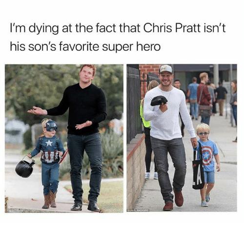 Photo of Chris Pratt's son dressed as Captain America for Halloween
