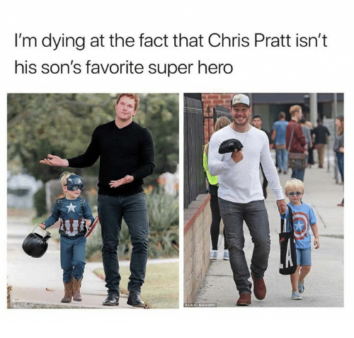 Photo of Chris Pratt's son dressed as Captain America for Halloween