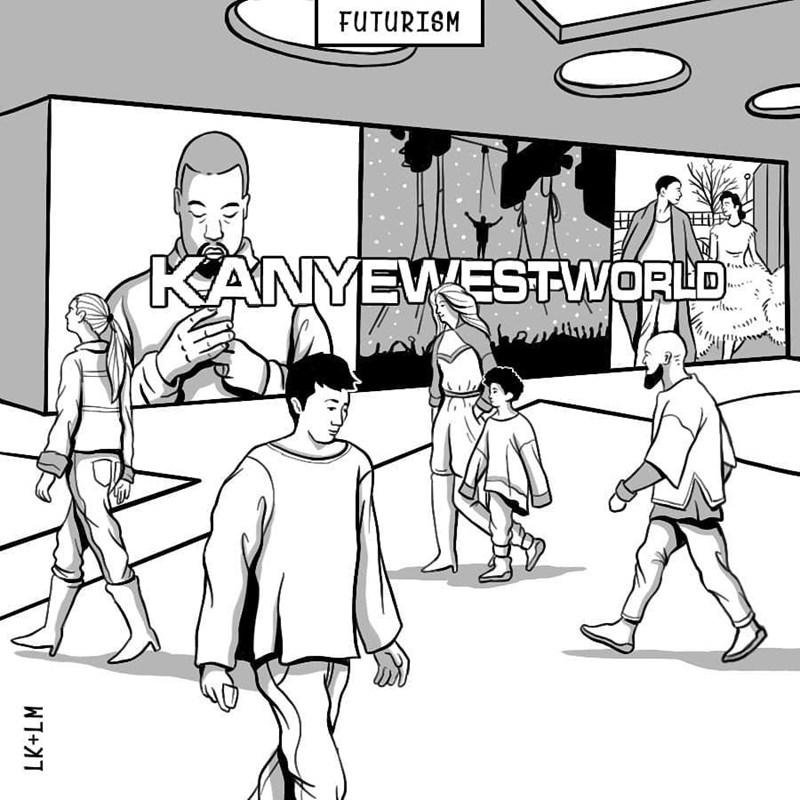 Cartoon - FUTURISM KANYEWESTWORLD LK+LM