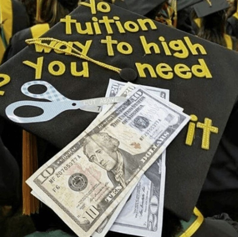 Money - tuition Way to high You need CUT ABOVE BLNSESTS OP3UR it MF 20705377A F6 9 MF 20705377A DOLLARS