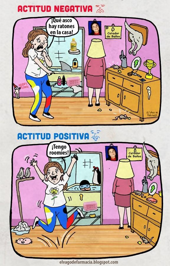 cuando tienes una actitud positiva todo sale mejor