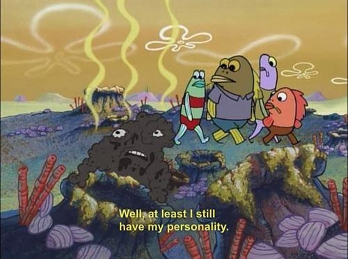 spongebob memes about not looking too good but still having a good personality