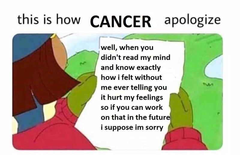 how cancer astrology sign apologizes