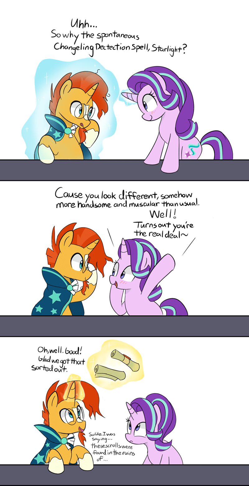 shipping sunburst starlight glimmer comic lance - 9167800832