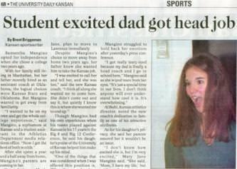 Hair - SPORTS 8-THE UNIVERSITY DAKyCANSAN Student excited dad got head job Mgin ede e Mang ffer