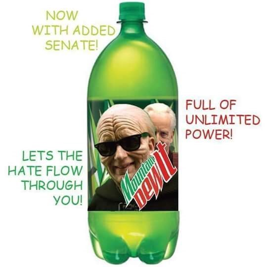 Bottle - NOW WITH ADDED SENATE! FULL OF UNLIMITED POWER! LETS THE HATE FLOW THROUGH YOU!