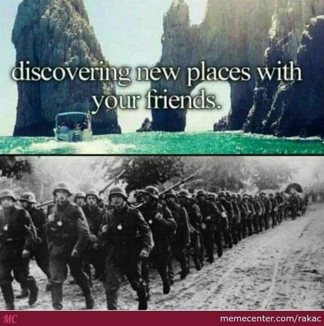 Adaptation - discovering new places with your friends. MC memecenter.com/rakac