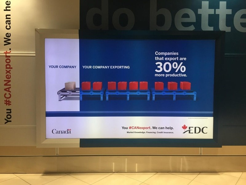 Display device - do bette Companies that export are 30% YOUR COMPANY YOUR COMPANY EXPORTING more productive. EDC You #CANexport. We can help. Canada Market Knowledge. Financing. Credit Insurance. You #CANexport. We can he