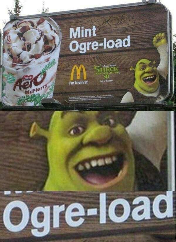 Poster - Mint Ogre-load SHREK Relo egetei-AET 30 Pm lovin' it Oly Thetes McFlurry Ogre-load