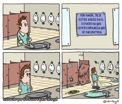 dejar el bano como se espera encontrarlo