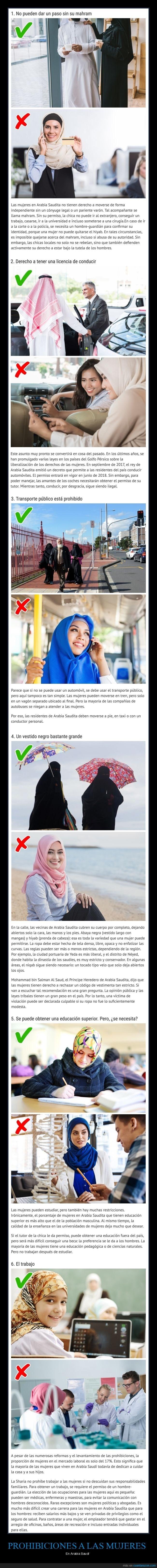 curiosidades sobre las mujeres en arabia saudita