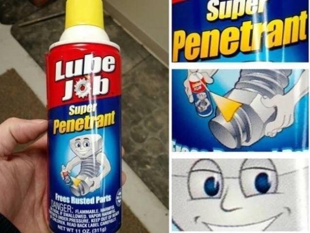 Product - Penetrant Lube Jab Super Penetrant Frees Rusted PartS DANGER FLAMMABLEHAN FSWALLOWED. VAPOR NDER PRESSURE KEEP OUT OF OLENREAD BACK LABEL CAR NET WT 11 0Z. (3119