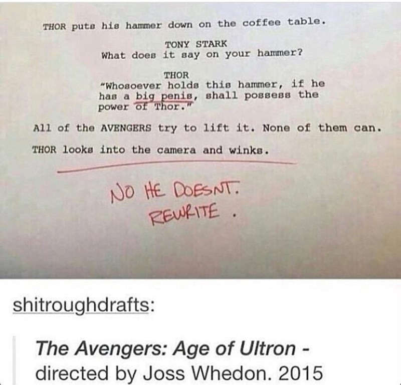 happy meme of an alternate version of The Avengers: Age of Ultron