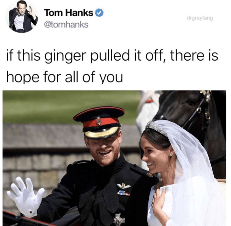 happy meme about how Prince harry got Meghan that there is hope for all