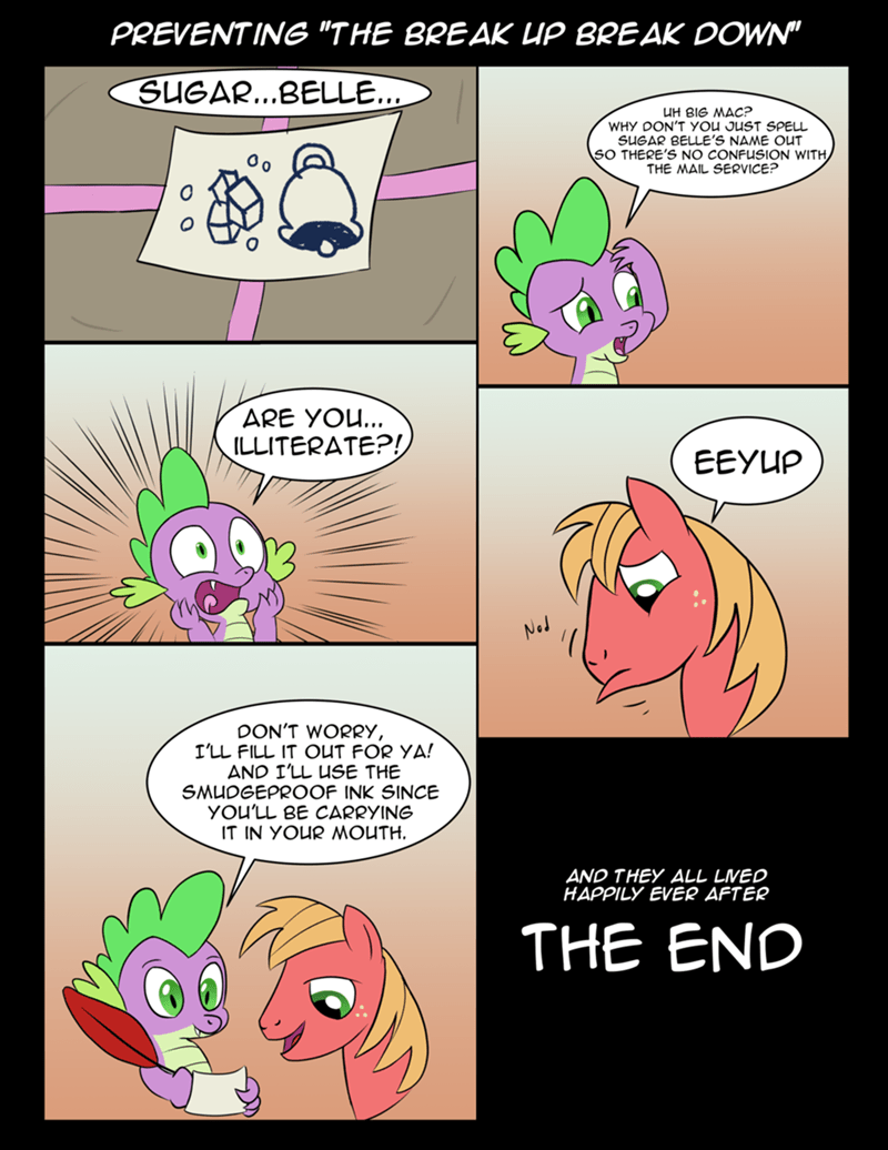spike the breakup breakdown Big Macintosh comic tech--pony - 9168974848