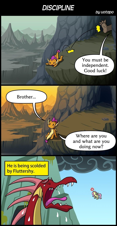 molt down smolder uotapo dragonshy comic fluttershy - 9169174272