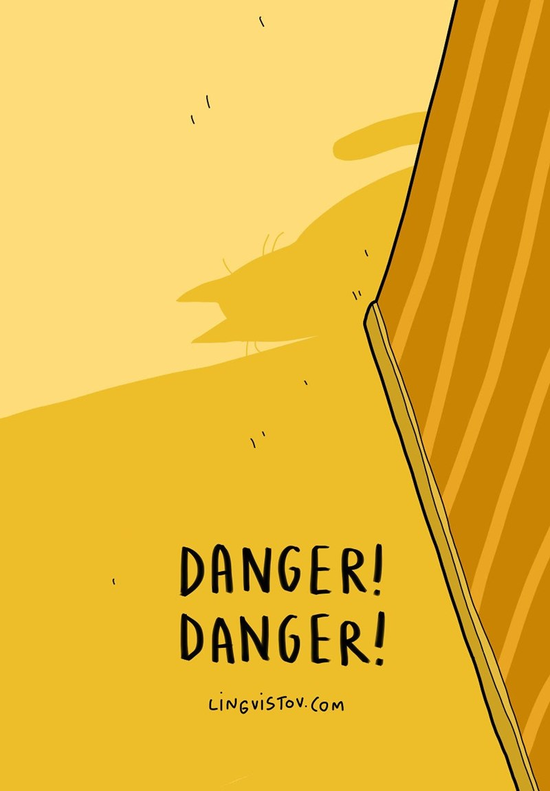 Yellow - DANGER! DANGER! LINGVISTOV.COM