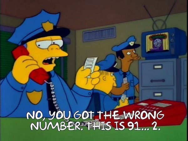 Animated cartoon - NO, yOU GOTTHEWRONG NUMBERTHIS IS 91... 2.
