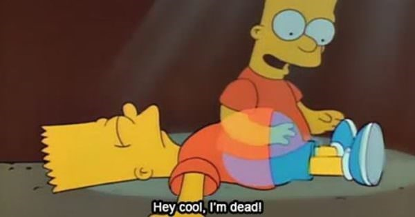 Cartoon - Hey Cool, I'm dead!
