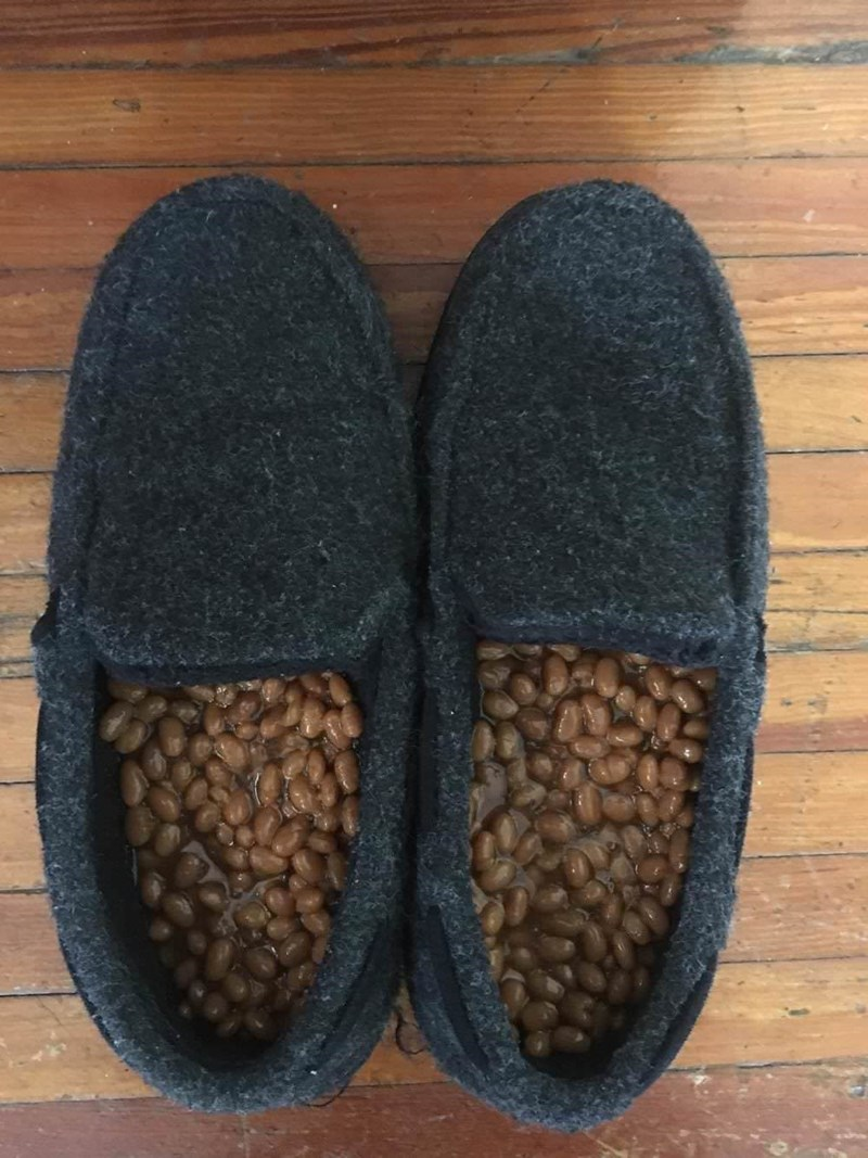 cursed_image - Footwear with beans in it