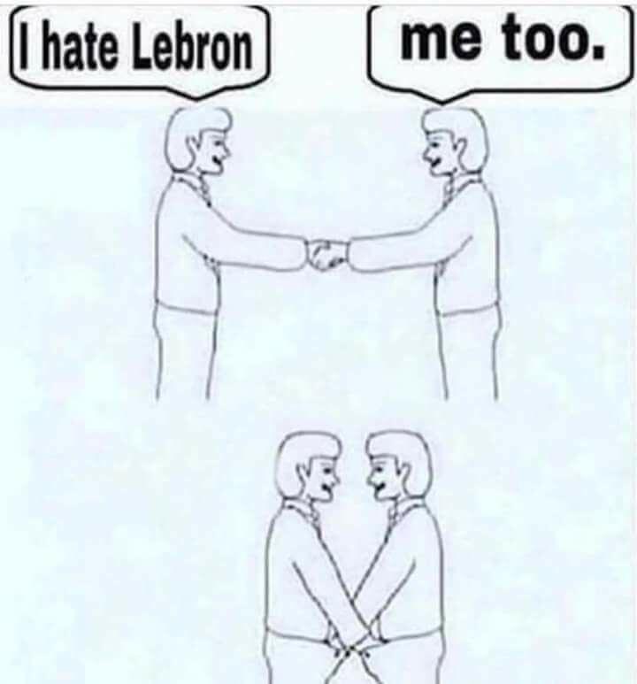 Text - I hate Lebron me too.