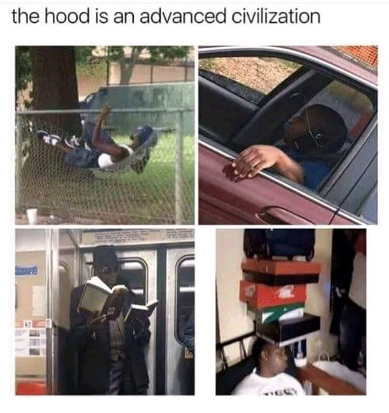 Vehicle door - the hood is an advanced civilization