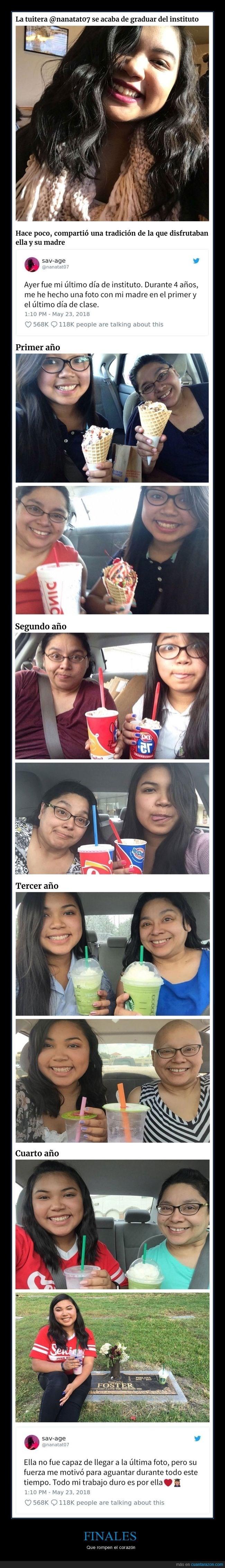 historia de estudiante que se tomo una foto con su madre