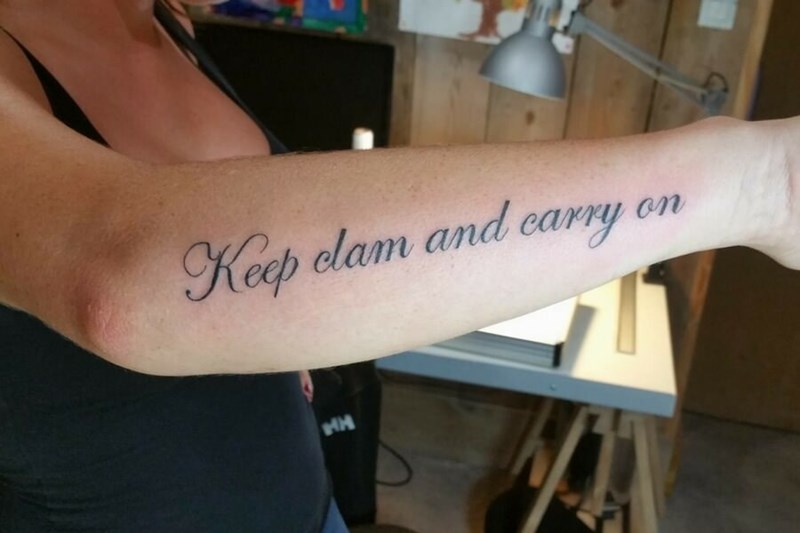 Arm - Keep clam and carry