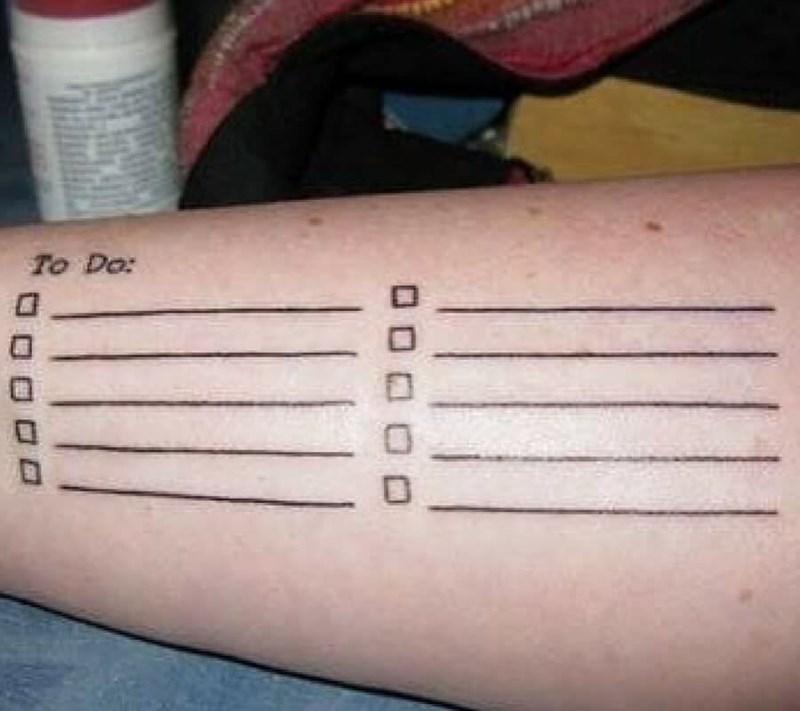 Tattoo - To Do: