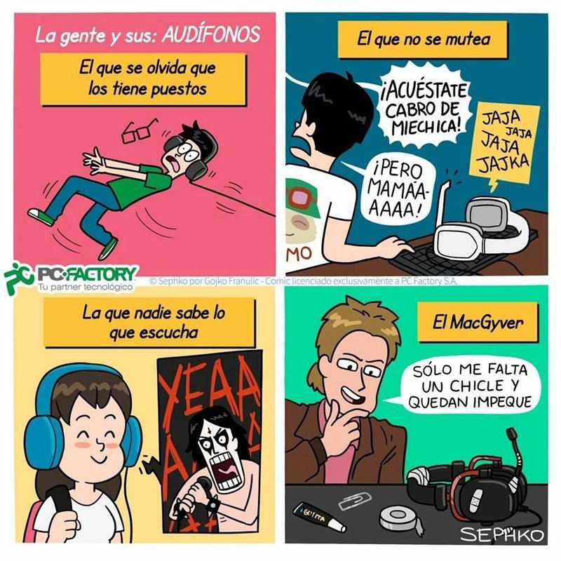 los diferentes tipos de audifonos segun SephkoComics