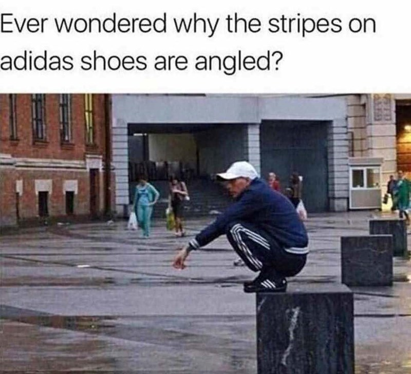 Skateboarding - Ever wondered why the stripes on adidas shoes are angled?