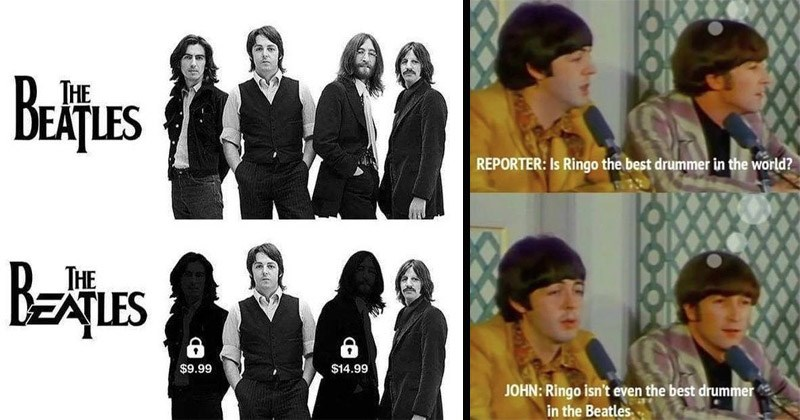 Funny memes about The Beatles
