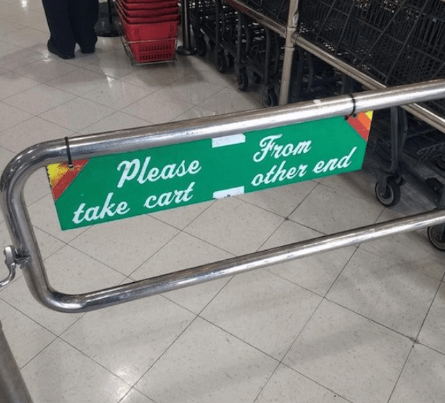 Transport - From other end Please take cart