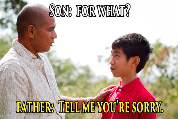 Adaptation - SON: FORWHAT? FATHER TELL MEYOU RE SORRY