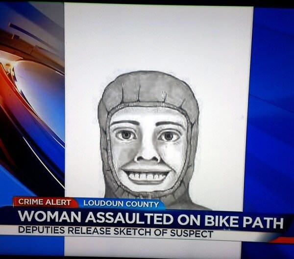 Face - LOUDOUN COUNTY CRIME ALERT WOMAN ASSAULTED ON BIKE PATH DEPUTIES RELEASE SKETCH OF SUSPECT