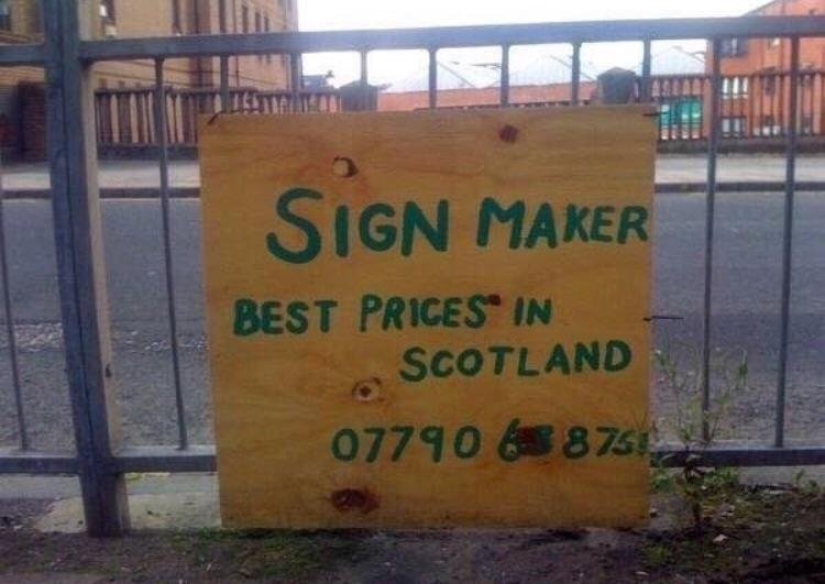 Text - SIGN MAKER BEST PRICES IN SCOTLAND 07790 6875