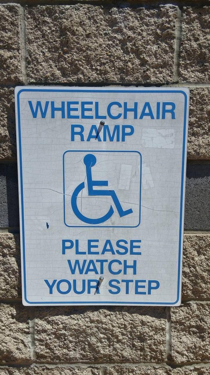 Blue - WHEELCHAIR RAMP PLEASE WATCH YOUR STEP