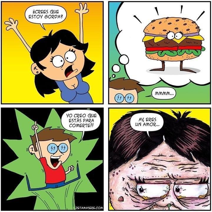 cuando imaginas a tu novia gorda muy comestible