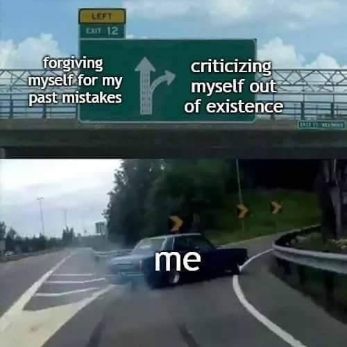 Funny exit ramp meme.