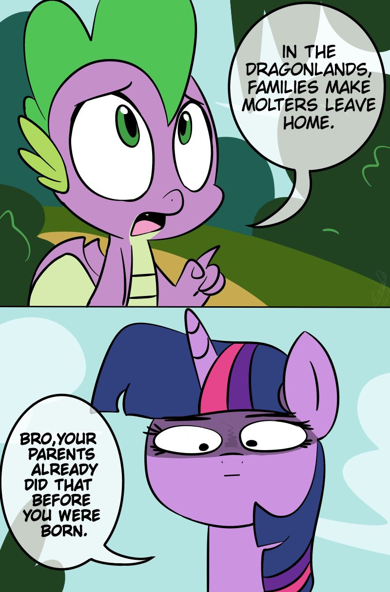 spike molt down emositecc twilight sparkle comic - 9171657728