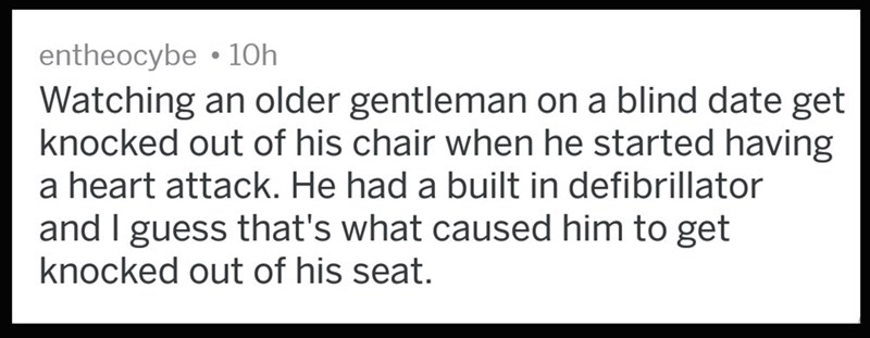 Old guy has a heart attack