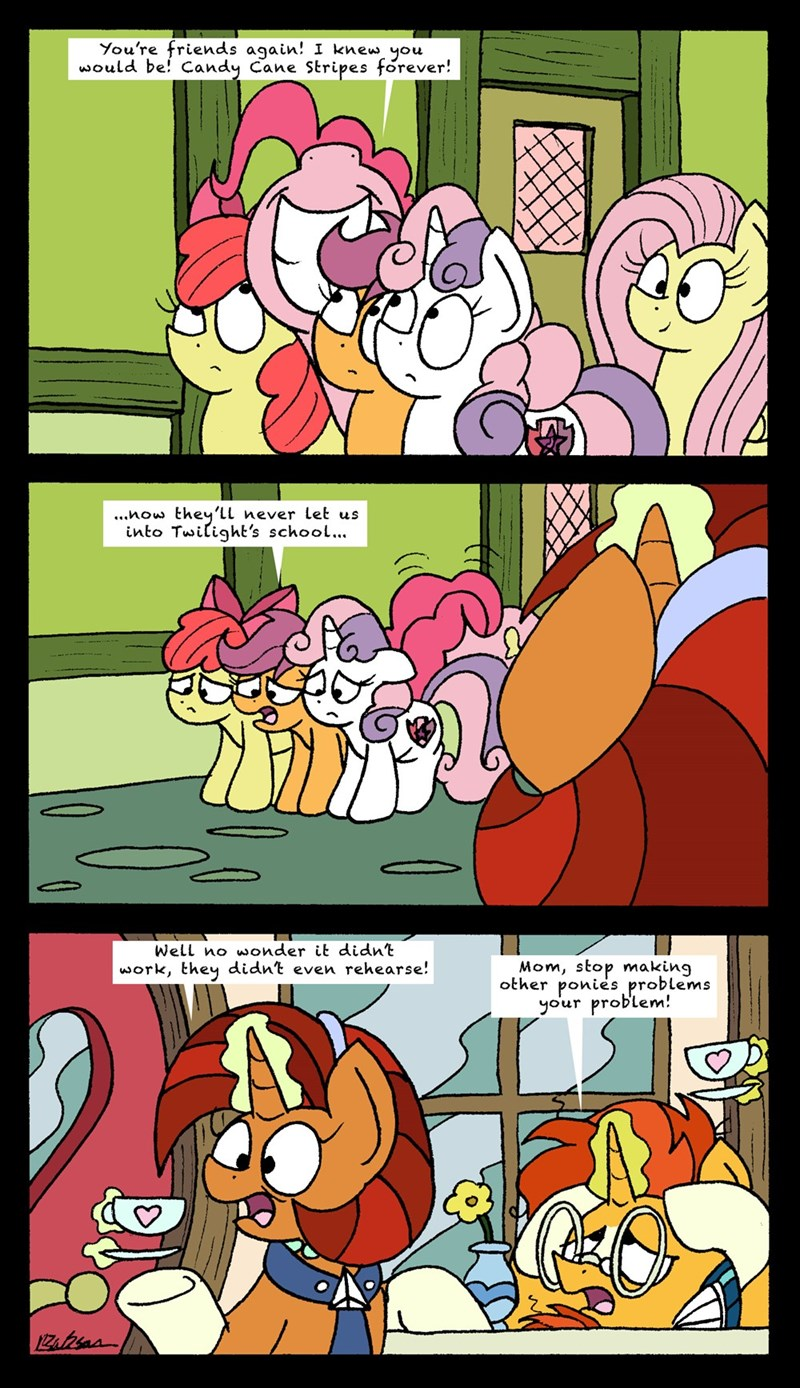 marks for effort sunburst bob the dalek Sweetie Belle apple bloom pinkie pie comic Scootaloo stellar flare - 9171846144