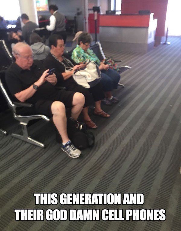 Leg - THIS GENERATION AND THEIR GOD DAMN CELL PHONES