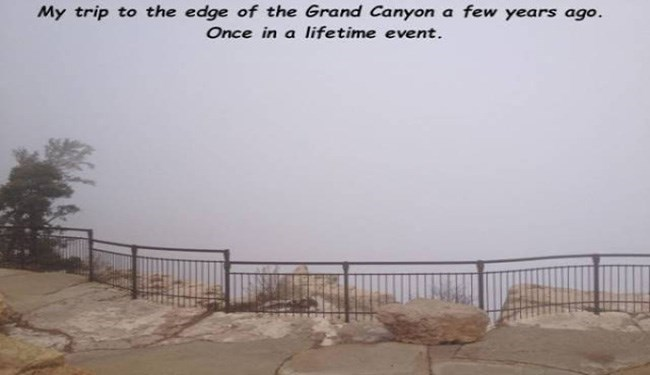 Atmospheric phenomenon - My trip to the edge of the Grand Canyon a few years ago. Once in a lifetime event.